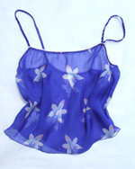 Silk Chiffon Royal Blue ORchid Camisole Top